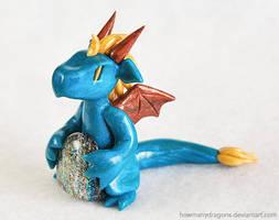 Teal Dichro Dragon by HowManyDragons