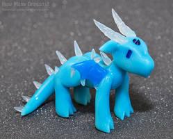 Rainbow Elementals: Ice Dragon by HowManyDragons
