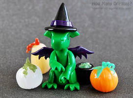 Witch Dragon Among the Pumpkins by HowManyDragons