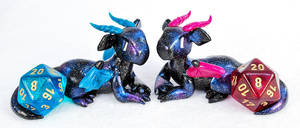 New Galaxy Dice Dragon Colors by HowManyDragons