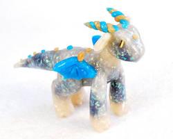 Experimental Black Opal Dragon by HowManyDragons