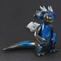 Blue Labradorite Dragon by HowManyDragons