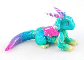 Pastel Rainbow Clay Dragon by HowManyDragons