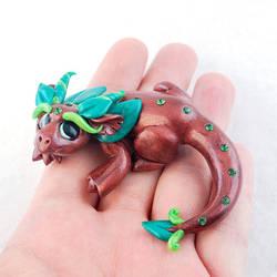 Woodsy Glass Eye Dragon by HowManyDragons