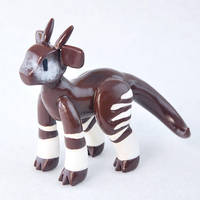 Polymer Clay Okapi-Dragon Hybrid by HowManyDragons