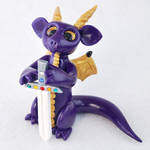 Royal Purple Dragon with Sword by HowManyDragons