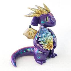 Purple Bismuth Dragon by HowManyDragons
