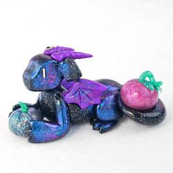 Galaxy Pumpkin Dragon by HowManyDragons