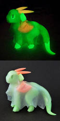 Glowing Ghost Dragon by HowManyDragons