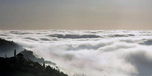 Balestrino above clouds by riviera2008