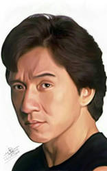 Jackie Chan portrait by sameehismail