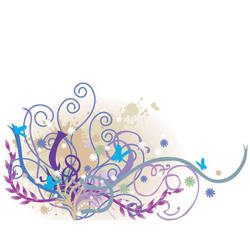 vector colorful floral art by cgvector