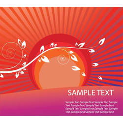abstract red sunny wallpaper by cgvector
