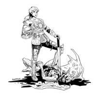Myth and Magic Paladin by JessicaSafron