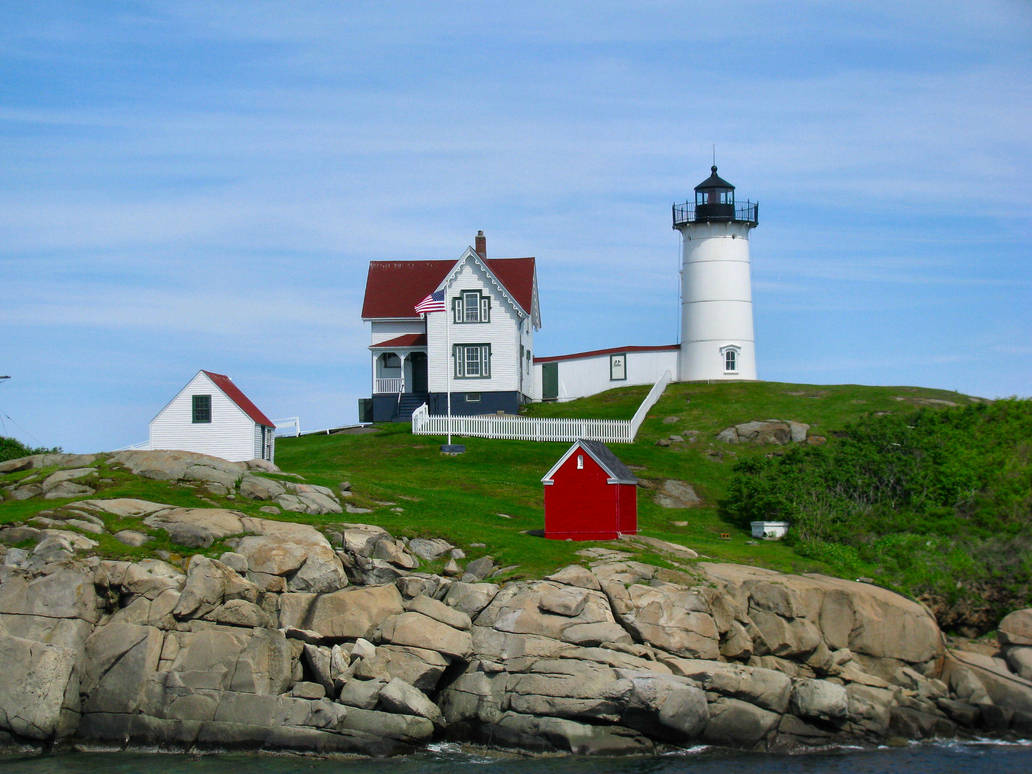 Nubble Lighthouse by craftywench-nh