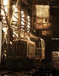 The train. by Zhen-Yang