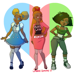 MelaninPuff Girls by Jazzie-Simone