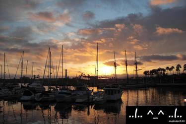 Dock Side Sun Set by madnezz344