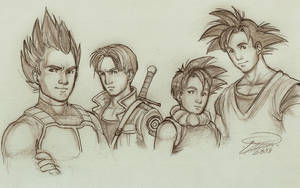 Dragon Ball Z Saiyans by Kaleia-San