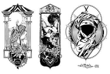 Black and White print set by DK-Studio