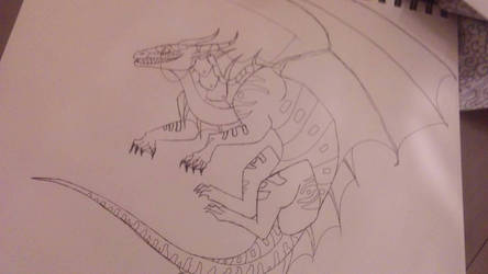 wings of fire Sketch by ElfEatsWorld2424