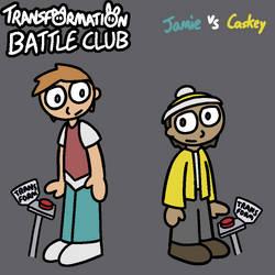 TF Battle Club poster: Jamie and Caskey by lizard-socks
