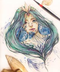 The sea queen by jminsart