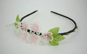 Cherry Blossom Headband View 2 by Lady-Blue