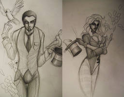 The Illusionist and Abra by blackangelofmine