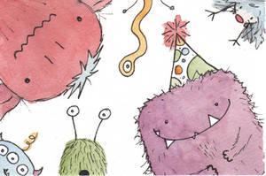 Little Monsters by BenCPanda