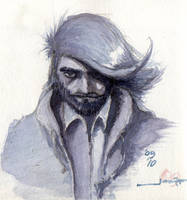 Indigo self-portrait by arqaissa