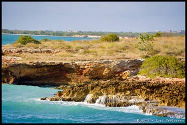 Cabo Rojo Lighthouse Cliffs 3 by Vamppy