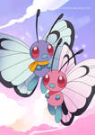 Butterfree duo Poster by Crystal-Ribbon