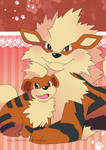 Arcanine Poster by Crystal-Ribbon
