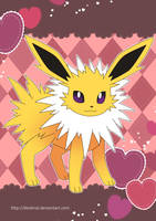 Jolteon Poster by Crystal-Ribbon