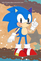 Sonic postcard by Crystal-Ribbon
