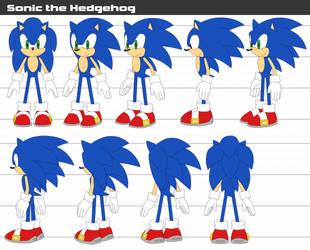 Sonic REF sheet by Crystal-Ribbon