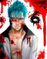 bloody Grimmjow by AbsolumTerror