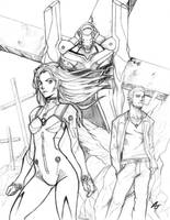 evangelion:0.0 manga sketch 2 by AbsolumTerror