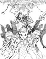 evangelion:0.0 manga sketch 3 by AbsolumTerror