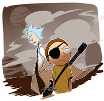 Evil Rick and Morty 2 by RikawawaArt