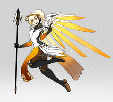 Overwatch - Mercy by LindaVonree