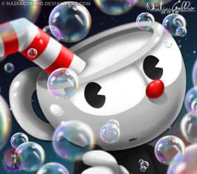 Bubble Cuphead by NadiaCoelho