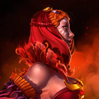 Lina | Vermilion Bird Vestment set | promo art 1 by NatashaKashkina