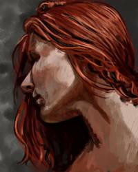 Red Hair Speedpaint by CinnamonAlchemy