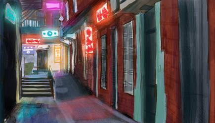 Zack's World - Alley Study by CinnamonAlchemy