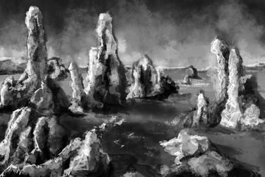 Environment Practice 1 - Rocks by CinnamonAlchemy