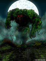 Man-Thing- Digital Colours by BoredRobot