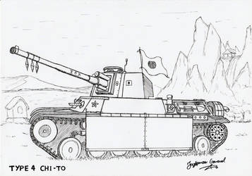 Type 4 Chi-To Medium Tank by StubbornEmil