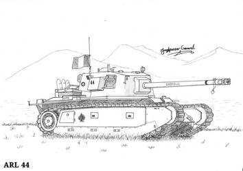 Heavy Tank ARL 44 by StubbornEmil